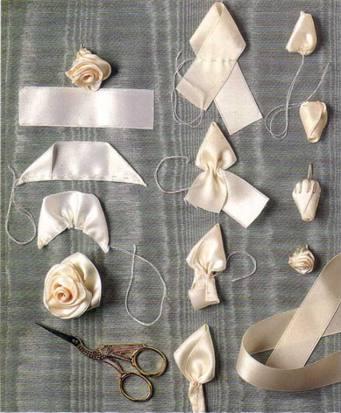 ...выполнения розы из ленты,руководства по моделированию одежды,эскизы.
