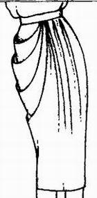 выкройка прямой юбки с асимметричной драпировкой