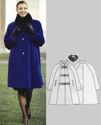 Фасоны пальто для полных (30 рисунки ) ::